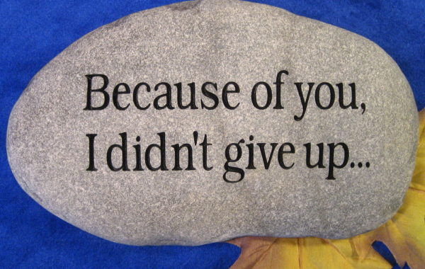 Custom Engraved Stone
